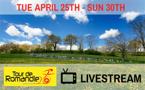 TOUR OF ROMANDIE LIVESTREAM, Tuesday April 25th-30th