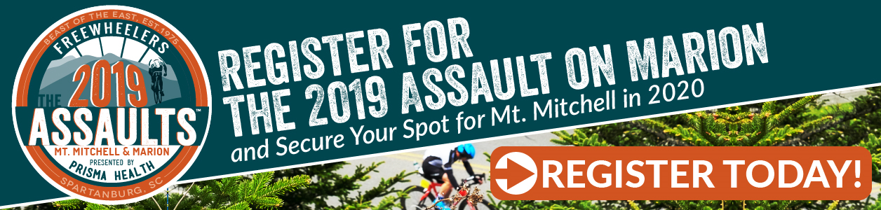 Mt. Mitchell is SOLD OUT - Assault on Marion is Still Open - REGISTER TODAY!