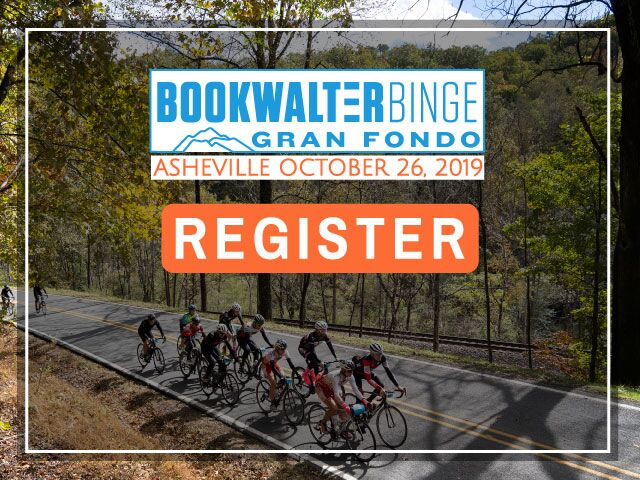 Bookwalter Binge Gran Fondo, Oct 26, Asheville, NC - Register Now!