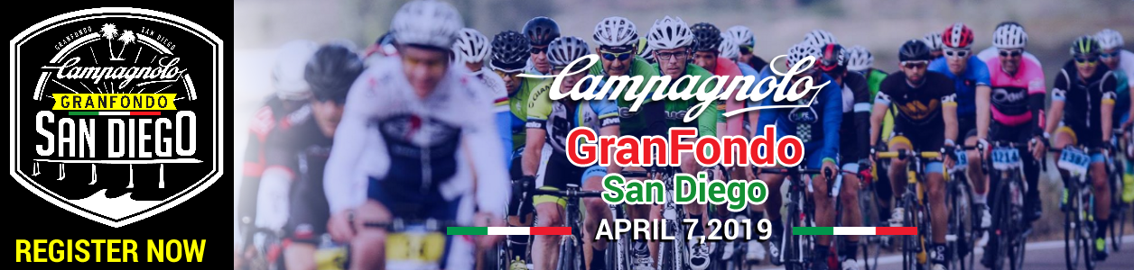 Campagnolo Gran Fondo San Diego, April 27, 2019 - REGISTER NOW!