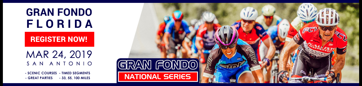Gran Fondo Florida, March 24, 2019 - Register Now!