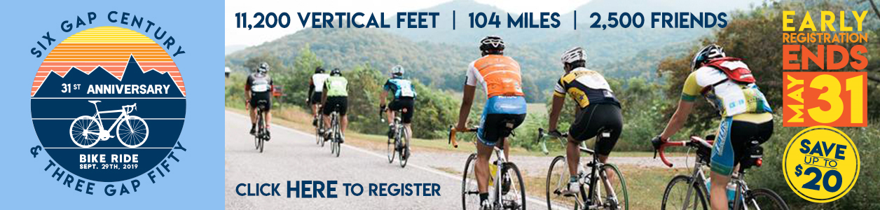 Six Gap Century - Southeast's Bucket List Ride - Dahlonega, GA - Sept 29 - REGISTER NOW and SAVE!