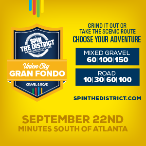 Spin the District Road and Gravel Gran Fondo, Union City, GA, September 22,2019 >>> Register NOW!