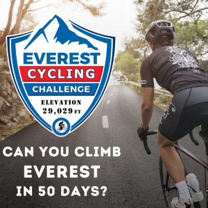 You will have 50 days to climb Mt. Everest - 29,028 feet!