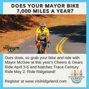 Cheers and Gears Bike Ride, April 3-5, Ridgeland, MI - REGISTER NOW!