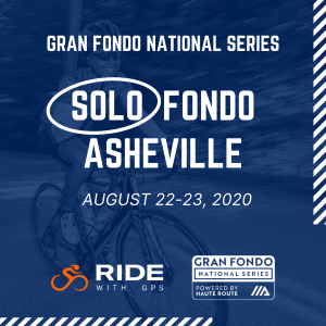 2020 Gran Fondo Asheville, NC, August 22-23rd - REGISTER NOW!