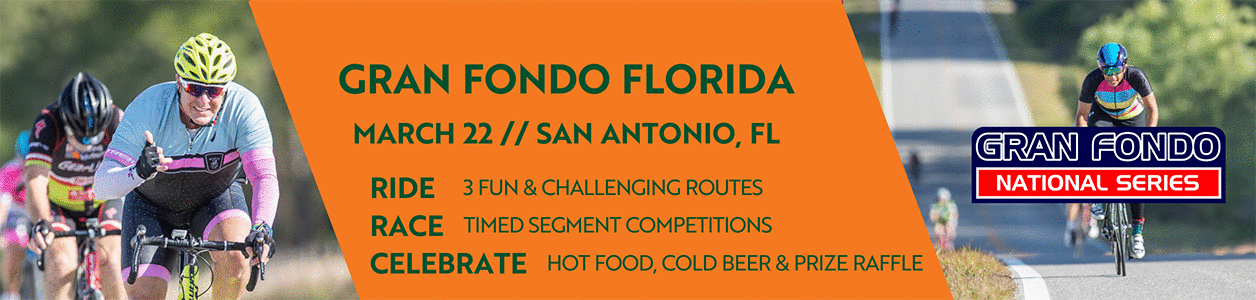Gran Fondo Florida, March 22, 2020 - Register Now!
