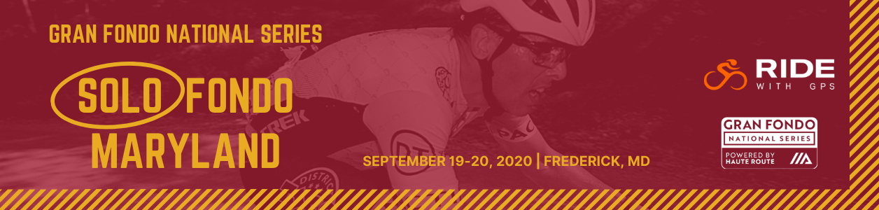 2020 GFNS Maryland Solo Fondo, September 19-20 - REGISTER NOW!