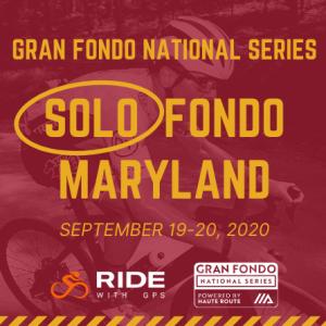 2020 GFNS Maryland Solo Fondo, September 19-20 - REGISTER NOW!