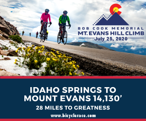 Bob Cook Memorial Mount Evans Hill Climb, Idaho Springs, Colorado, July 25th - REGISTER NOW!