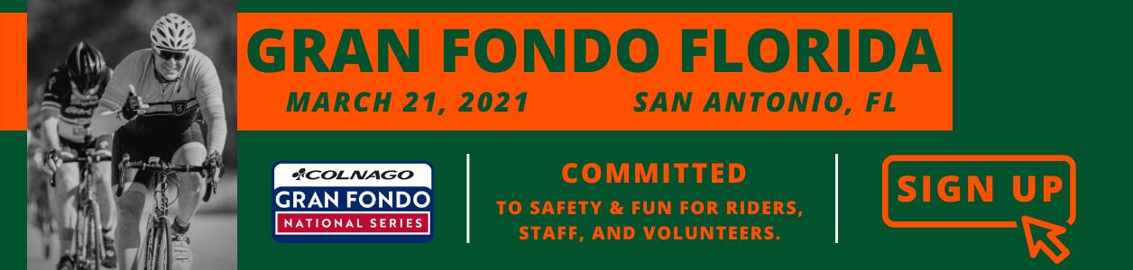 Gran Fondo Florida, San Antonio, March 21st 2021 - REGISTER NOW!