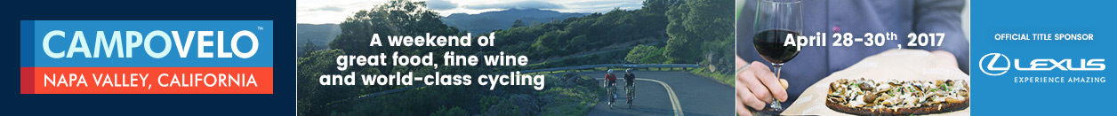 CAMPOVELO, St Helena, CA, Great food, fine wine and world-class cycling—all packed into one sensational weekend! Register Now