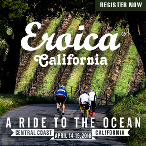 Eroica California, Central Coast, CA, April 14-15, 2018. Registration Now Open.