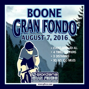 Giordana GFNCS Boone Gran Fondo, North Carolina, August 7th, 4 Timed Sections, 3 Distances - Register NOW!
