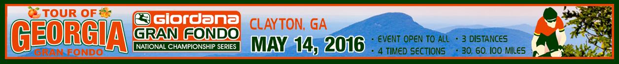 Giordana GFNCS Tour of Georgia Gran Fondo, North Georgia's Appalachian Mountains, May 14th - Register NOW!