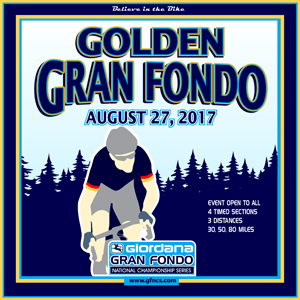 Giordana GFNCS Golden Gran Fondo, Colorado, August 27th 2017, 4 Timed Sections, 3 Distances - Register NOW!