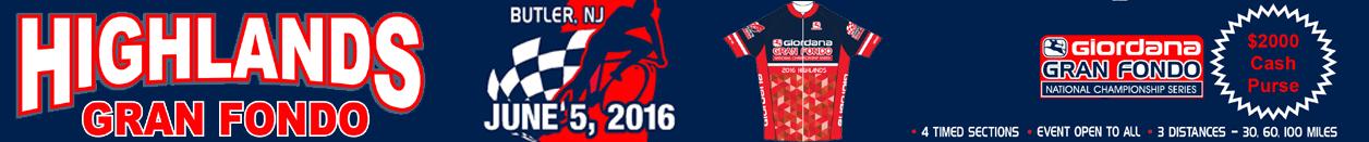 Giordana GFNCS Highlands Gran Fondo - Butler, NJ - June 5th 2016 - Register Now!