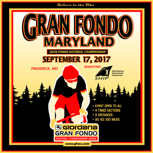 Giordana GFNCS Gran Fondo National Championships, Maryland, September 17th 2017, 4 Timed Sections, 3 Distances - Register NOW!