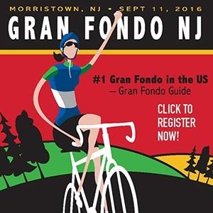 The Gran Fondo New Jersey, September 11th, One of America's Top Gran Fondo's - Register NOW!