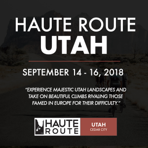 Haute Route Utah, September 14 - 16, 2018