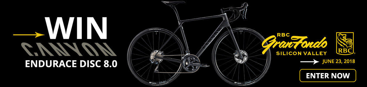 Register by June 19 for your chance to win a performance CANYON road bike at the RBC Gran Fondo Silicon Valley on June 23rd!