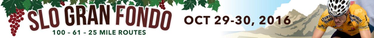 SLO Gran Fondo - Avila Beach, California - Oct 29/30 2016 - Registration is Now Open!