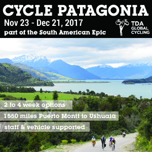 CYCLE PATAGONIA, part of the South American Epic, 2 to 4 weeks options, 1550 miles Puerto Montt to Ushuaia, staff & vehicle supported!