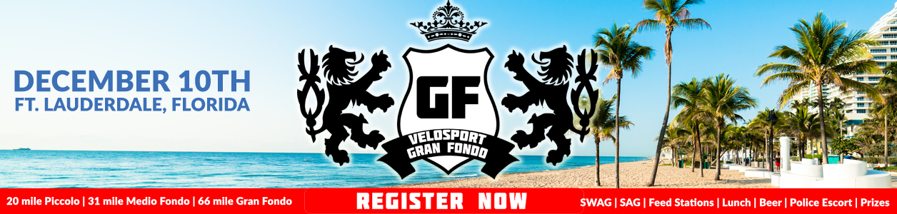 VeloSport Gran Fondo, Ft. Lauderdale - December 10th - Register Now!