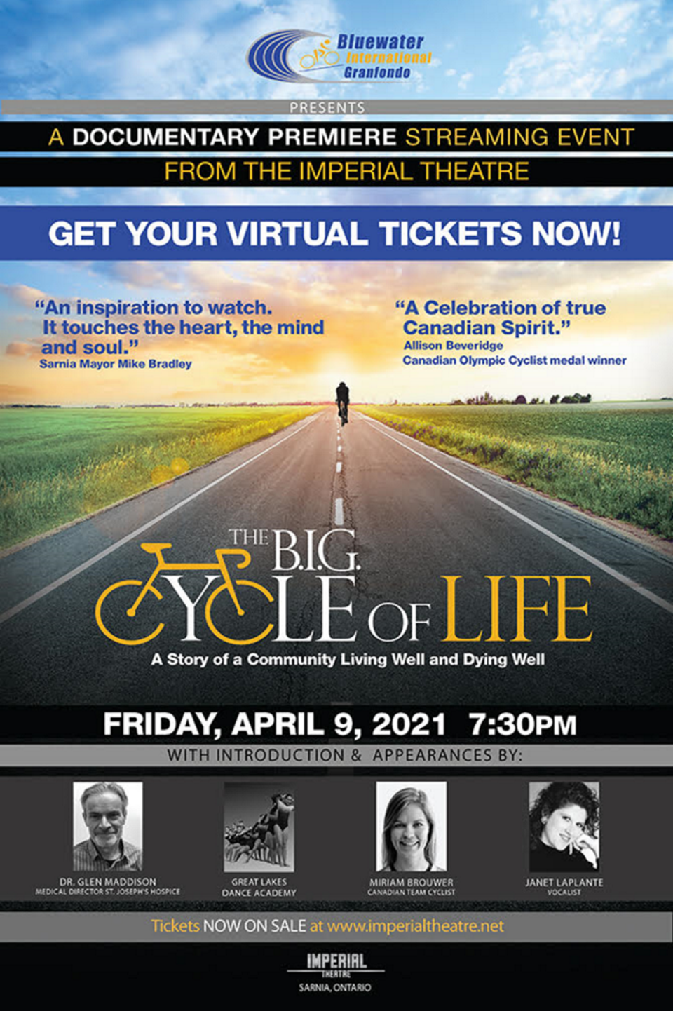 Documentary Premiere: The B.I.G. Cycle of Life, A Story of a Community Living Well and Dying Well