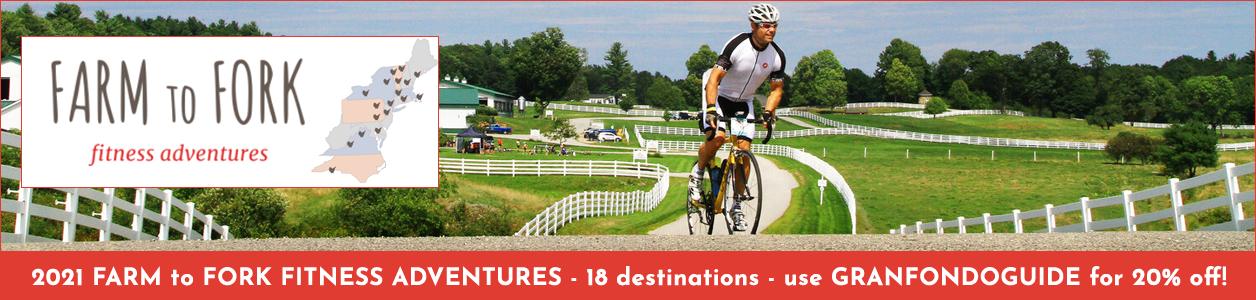 2021 Farm to Fork Fitness Adventures - 18 Destinations!