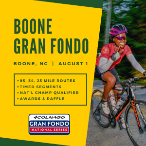 Gran Fondo Boone, NC - Aug 1st - REGISTER NOW!