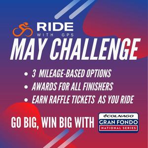 Ride with GPS May Challenge May 1-31 - GO BIG, WIN BIG!